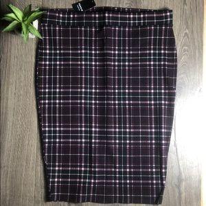 Torrid Plaid Stretch Ponte Pencil Skirt